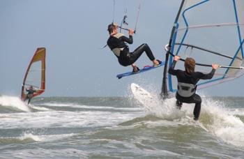 Windsurfen und Kiten